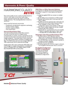 thumbnail of TCI – HGA Active Harmonic Filter Brochure