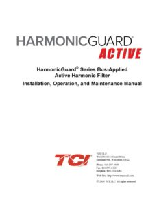 thumbnail of TCI Harmonic Filter IOM