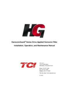 thumbnail of TCI Harmonic Filter Manual