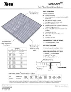 thumbnail of Tate DirectAire Floor Grille Submittal