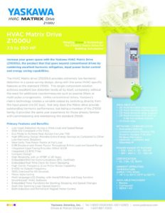 thumbnail of Yaskawa Matrix Drive flyer 4-15