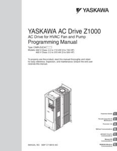 thumbnail of Yaskawa Z1000 Bacnet Manual