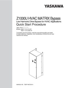 thumbnail of Yaskawa Z1000 Matrix Bypass Quick Start Procedure