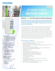thumbnail of Yaskawa Z1000U Matrix VFD Brochure