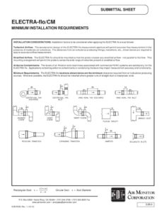 thumbnail of Air Monitor ELECTRAflo Min Installation Requirements Submittal