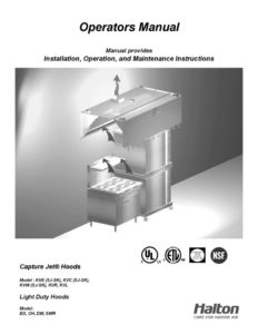 thumbnail of Halton Capture Jet Hood IOM 1-09