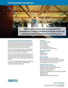 thumbnail of SEMCO – architectually exposed duct