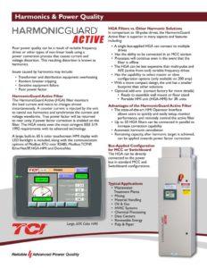 thumbnail of TCI – HGA Active Harmonic Filter Brochure