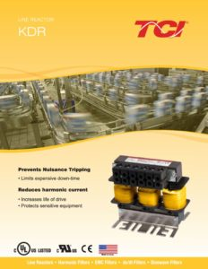 thumbnail of TCI – KDR Input Line Reactor Brochure