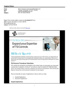 thumbnail of TSI Pressure Transducer Selections 11-12-13