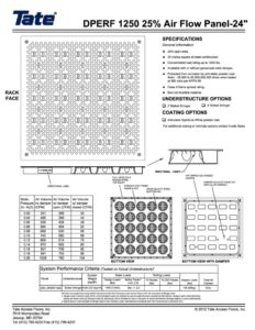 thumbnail of Tate Directional Perf1250-25pct 24in Panel Drawing