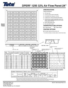 thumbnail of Tate Directional Perf1250-32pct 24in Airflow Panel Drawing