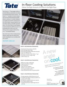 thumbnail of Tate In-Floor Cooling Solutions Flyer_DB – 2012
