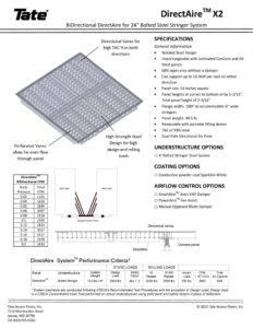 thumbnail of Tate directAire_X2 Floor Grille for 24in Steel Bolted Stringer Systems
