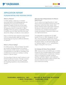 thumbnail of Yaskawa Plenum Rating Application Note